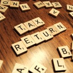 scrabble letters tax return