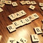scrabble letters tax return