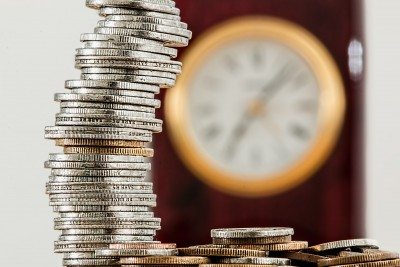 pension coins clock time
