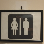Gender male female toilet sign
